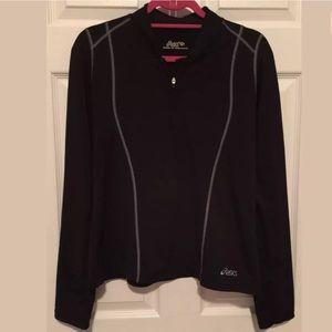 ASICS black pullover sweater jacket